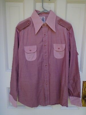 Vintage 70's disco shirt Kennington l  Large long sleeve