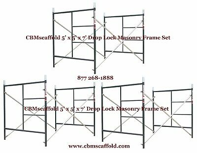 "3 SET of 5' X 5' X 7' Masonry BJ Drop Lock 1.69"" Scaffold Frame Set CBMscaffold"