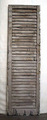"""16""""x55"""" Antique Vintage Old SOLID Wood Wooden Window House Shutter Louver Door"""
