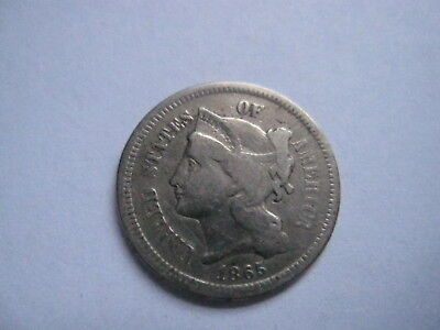 1865 3 Cent Nickel - Free Shipping !!  #513