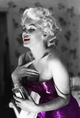 Marilyn Monroe Coco Chanel Perfume Purple Stretch Art Canvas Movie Poster Print