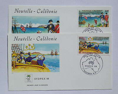 FDC 1988 - Nouvelle/Caledonie - Sydpex 88 X 2 Covers