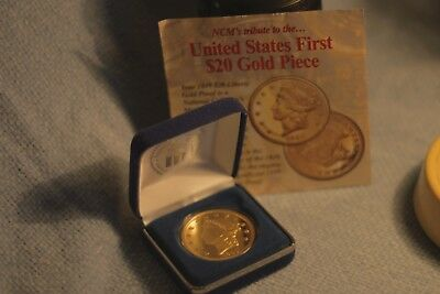 NCM's United State's First $20 Gold Piece WITH Certificate of Authenticity
