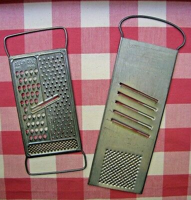 Lot of 2 -Vintage Rapid Slaw Cutter/Grater & All in One Pat Pend USA Decor