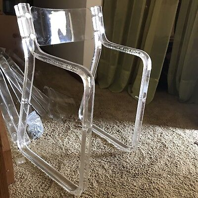 Set of Four Lucite Armchairs, 1970s