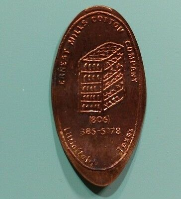 ERNEST MILLS COTTON COMPANY Littlefield TX Texas Elongated Copper Penny Coin