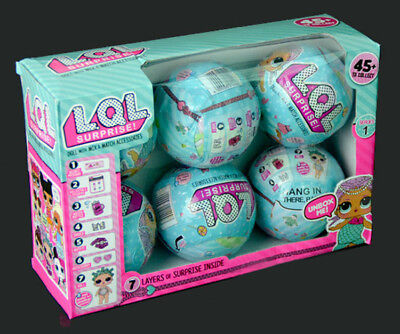 6 PCS Original LOL Outrageous 7 Layers Surprise Ball Doll Blind Mystery Toys