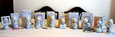Enesco Precious Moments Figurines w Boxes, 1989-2002, Nice Collection