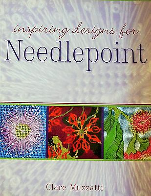 INSPIRING DESIGN FOR Needlepoint book by Clare Muzzatti