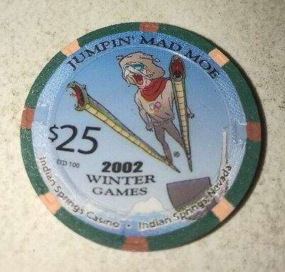 Indian Springs Casino $25 Casino Chip Indian Springs Nevada 2.99 Shipping