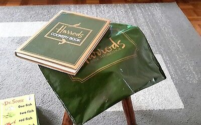 Vintage Harrods Carry Bag And Cook Book