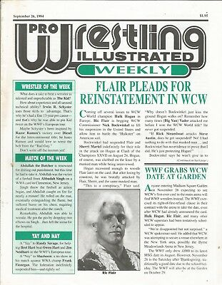 September 26 1994 Pro Wrestling Illustrated Weekly Magazine Ric Flair Wcw Wwf