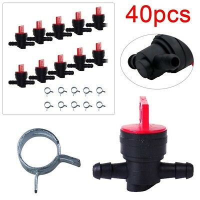 "40Pcs 1/4"" In-Line Straight Fuel Gas Shut-Off/Cut-Off Valves Petcock Motorcycle"