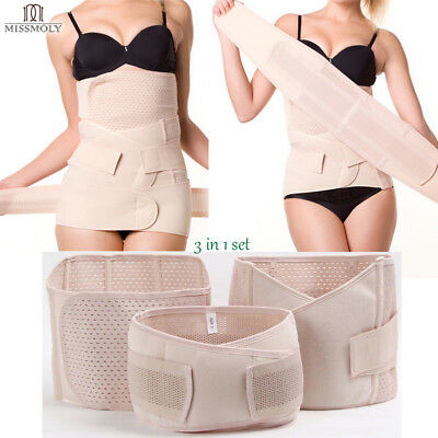 Postpartum Body Shaper Maternity Recovery Belly/Waist/Pelvis Support Belt 3 in 1