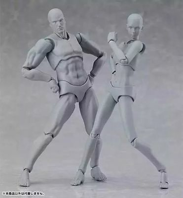 Figma 2PC Japan Archetype Next Body She and He Gray Version (Size 15CM)