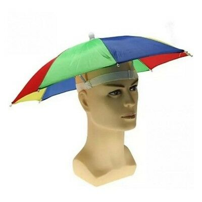 Hands Free Sun Umbrella Shade Hat Cap Foldable Outdoor Golf Fishing Fashion
