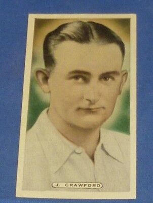 1935 Ardeth Cigarette Card Cricket Tennis Golf Celebrities # 35 J CRAWFORD MINT