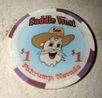 Saddle West $1 Casino Chip Pahrump Nevada 2.99 Shipping