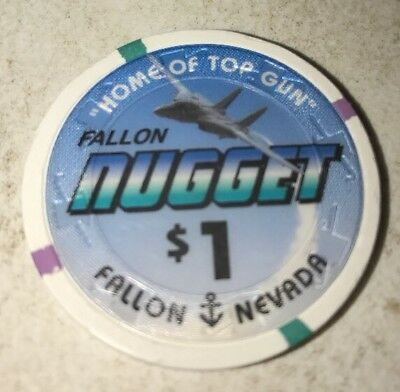 Fallon Nugget $1 Casino Chip Fallon Nevada 2.99 Shipping