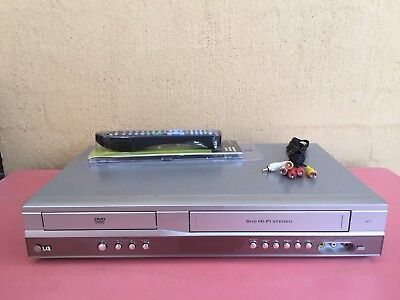 Serviced LG V271 Combo VCR DVD player + Video Recorder + Remote + RCA C