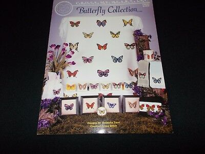 Cross Stitch Book~Butterfly Collection~18 Designs~Charts~Butterflies~1999