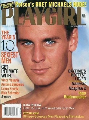 Playgirl Magazine December 1998 Mens Adult Glamour Magazine