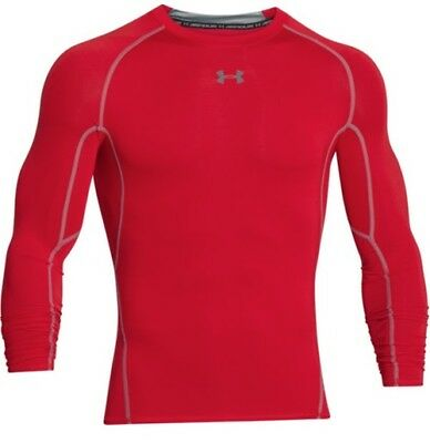 Under Armour 1257471 Men's Red HeatGear L/S Compression Shirt - Size X-Large