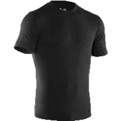 Under Armour 1234237 Men's Black Tac Charged Cotton S/S Shirt - Size X-Large