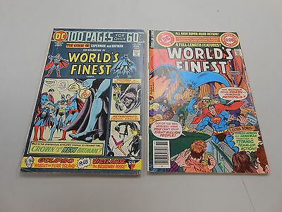 World's Finest Comic lot of 2! #'s 228 and 259! VG/FN5.0 and FN/VF7.0+! DC!