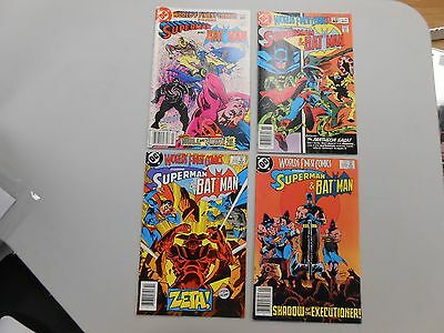 World's Finest Comic lot of 4! #'s 293, 297-299! VF8.0+! Bronze age DC beauties!