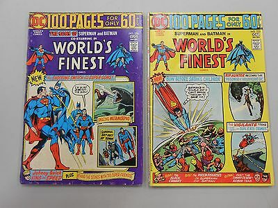 World's Finest Comic lot of 2! #'s 224 and 225! VG/FN5.0+! Bronze age DC giants!