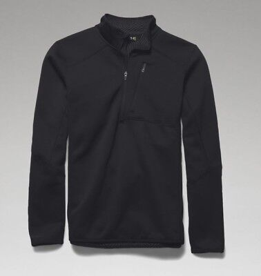 Under Armour 1262441 Men's Black ColdGear Infrared 1/4 Zip Shirt - Size Large