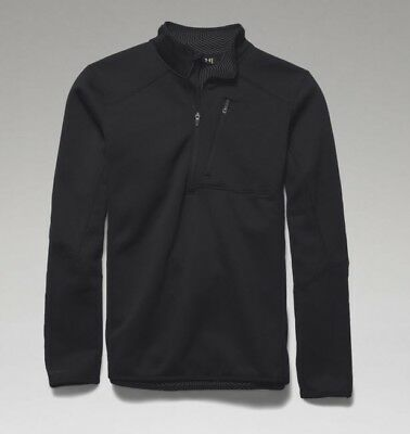 Under Armour 1262441 Men's Black ColdGear Infrared 1/4 Zip Shirt - Size Medium