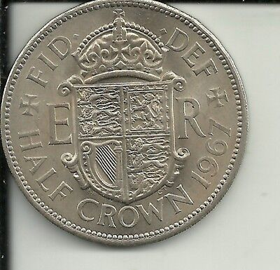Great Britain - 1/2 Crown,  1967  Km #907,