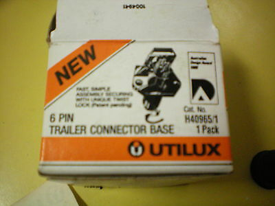 Nos Utilux 6 Pin Conector Trailer Caravan Ford Holden Valiant Chrysler Vw Toyota