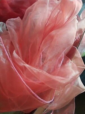 Wedding Chair Sashes Coral Pink