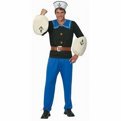 Adult Menu0027s Popeye Costume Sailor Man 1920s Cartoon Comic Fancy Dress Up Outfits  sc 1 st  PicClick UK : popeye costume uk  - Germanpascual.Com