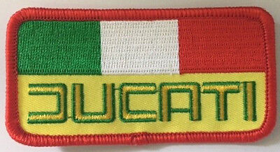 Ducati   --  vintage embroidered cloth patch.   B020304