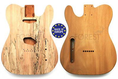 TELECASTER Rear routed Body electric guitar Honduras Mahogany/ Spalted maple top