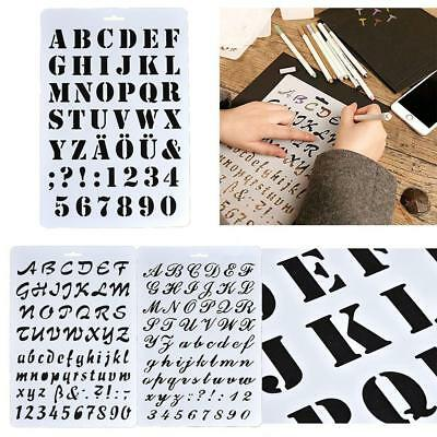 Painting Scrapbooking Letter Alphabet Number Layering Stencils Paper Cards AC