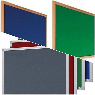 FELT NOTICE PIN BOARD 900 x 600 + 1200 x 900 mm MULTI FRAME FREE DELIVERY