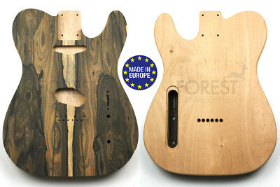 TELECASTER Rear routed Body electric guitar American Alder/ Ziricote bookmatched