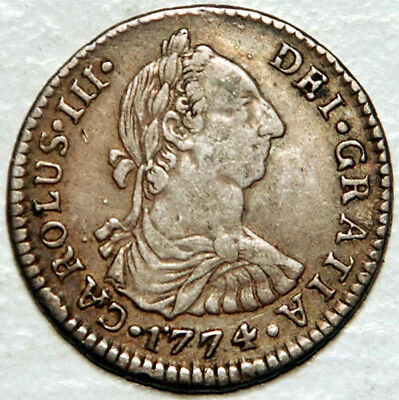 Bolivia Spanish Colonial Silver 1 Real 1774 (Scarce This Nice!)