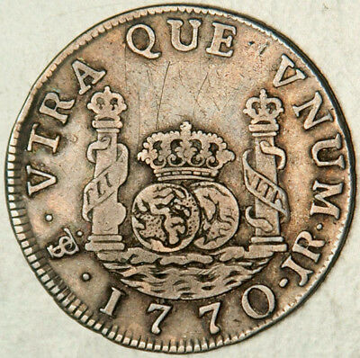 Bolivia Spanish Colonial Silver 2 Reales 1770 (Scarce + Sought After Type!)