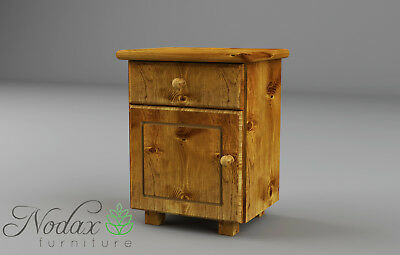 """Solid Wooden Pine Bedside Cabinet**Various Colour """"B4"""""""
