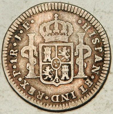 Colombia Spanish Colonial Silver 1 Real 1810 (Lot #1)