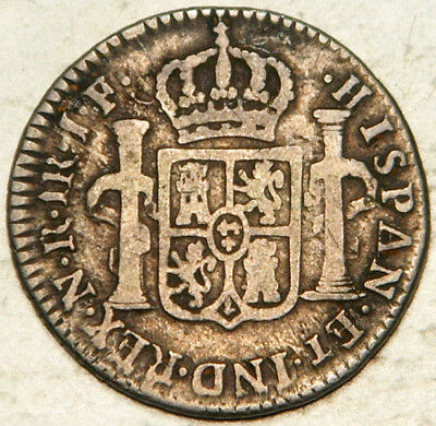 Colombia Spanish Colonial Silver 1 Real 1812