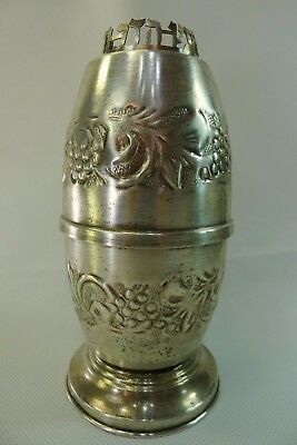 vintage rare silver plated brass Judaica beautiful etrog box