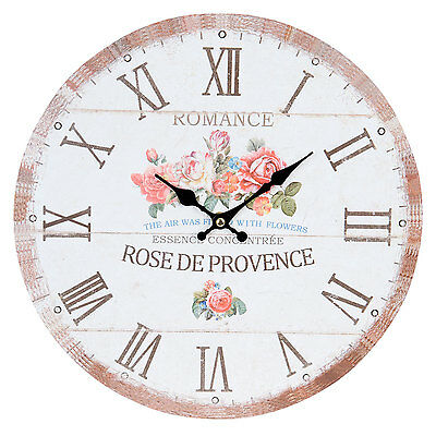 Clayre & Eef Vintage Wall Clock Nostalgia Watch Country House Style Rose De