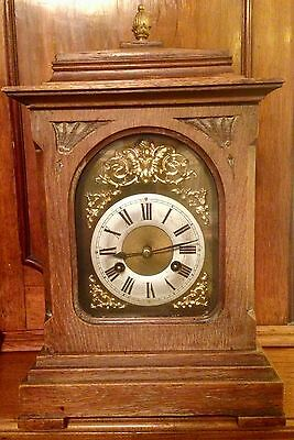 Antique Junghans Mantle Clock 8 Day Movement Early 1908